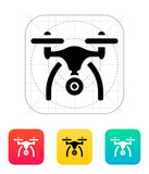 Copter with camera icon. poster