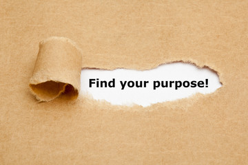 Find your purpose Torn Paper