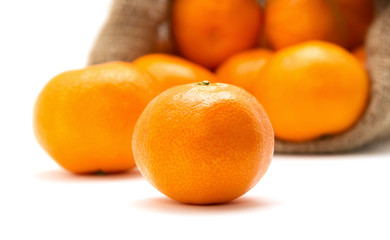 ripe juicy tangerine
