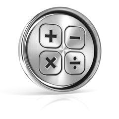 Button with calculation sign