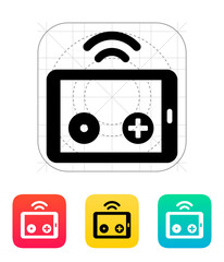 Tablet remote controller icon.