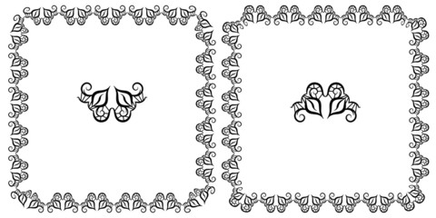 Set openwork vector frame for design