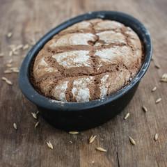Homemade sourdough rye bread