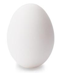 White egg isolated on white background.