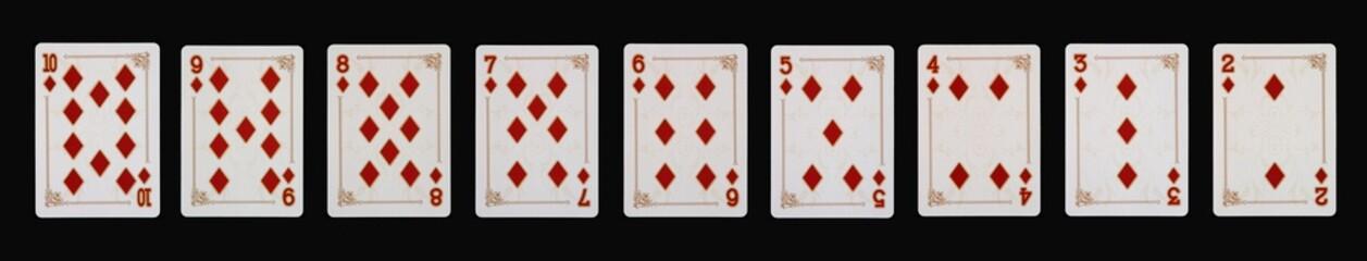Spielkarten - Poker - KARO im Spiel