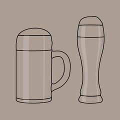 schraffiert symbole masskrug weissbierglas I