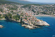 Aerial view of the old town Ulcinj, Montenegro.