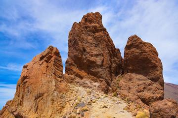 Rock at volcano Teide in Tenerife island - Canary