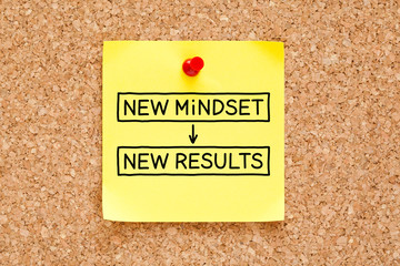 New Mindset New Results Sticky Note