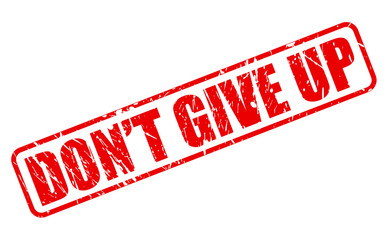 Do not give up red stamp text