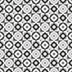 Seamless pattern black and white ceramic tile