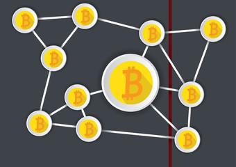 Stylish bitcoin infogram