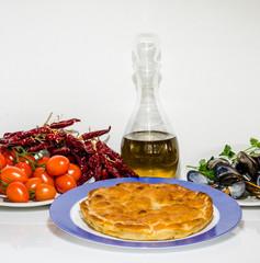tiella al pomodoro peperoncino e cozze