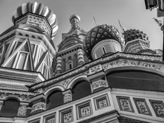 Russia, Moscow, St. Basil Cathedral domes