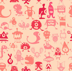 Vector. Monsters pattern