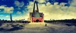 canvas print picture - moderne Kirche
