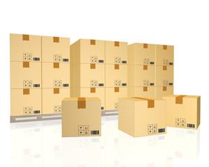 cargo, delivery and transportation logistics storage warehouse i