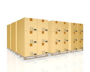cargo, delivery and transportation logistics storage warehouse i