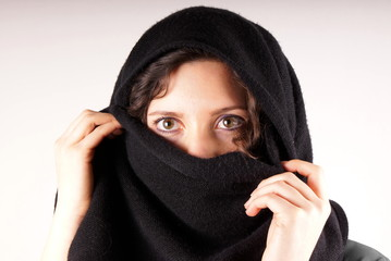 Girl with black scarf