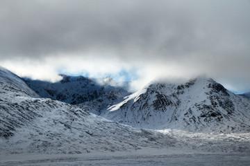 Winter landscape of Highland, Scotland
