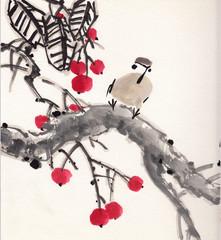 chinese painting bird