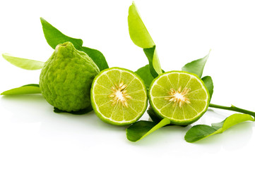 Kaffir lime fresh isolated.