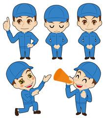 帽子の作業者告知用カット(整備士イメージ)
