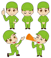 帽子の作業者告知用カット(農業イメージ)
