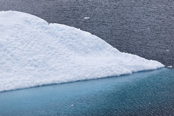 Antarctica bue iceberg floating