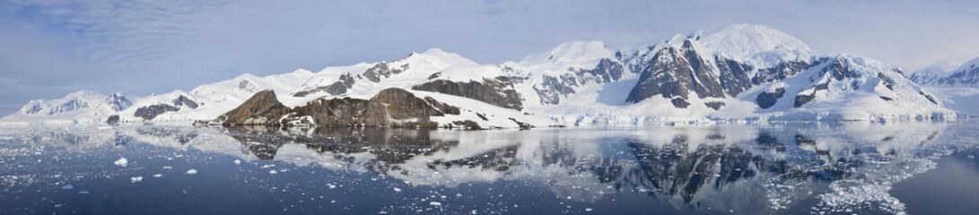Antarctica panorama of Paradise bay