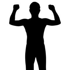 silhouette bodybuilder, vector format