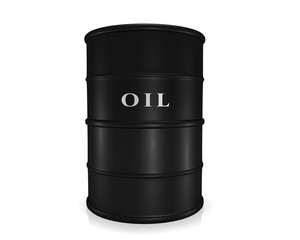 Barrel of oil isolated on white background