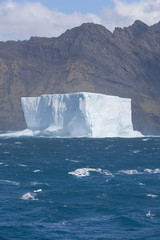 Antarctica giant iceberg floating