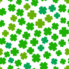 Four leaf clover seamless pattern