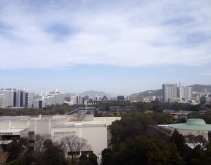 広島城と広島の街並み