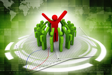 3d team leader boss company