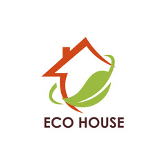 ecology leaf house logo