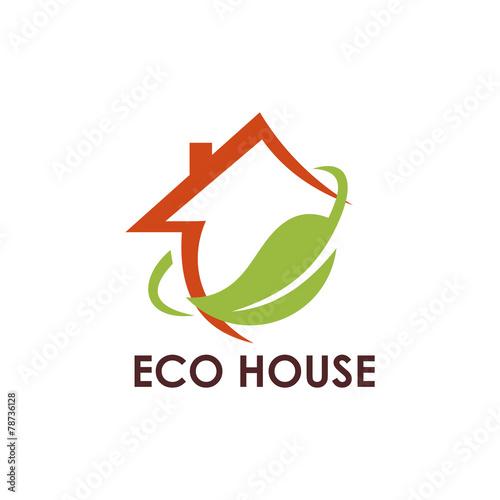 Ecology Leaf House Logo