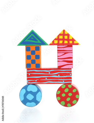 Leinwanddruck Bild Creative wooden toy house