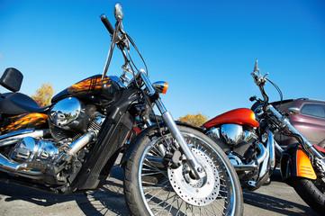 Beautiful chrome classic motorcycle