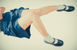Sexy Thai schoolgirl legs in soft childish color style