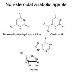 Structures of non-steroidal anabolic compounds