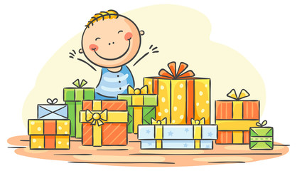 Child has too many presents