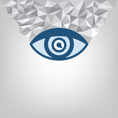 abstract eye and geometry background