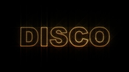 """Set of 10 """"DISCO"""" text LEDS reveals with alpha channel"""