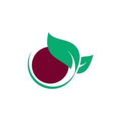 leaf organic abstract logo
