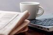 Leinwanddruck Bild - Newspaper and coffee