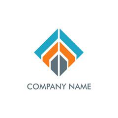 square line construction company logo