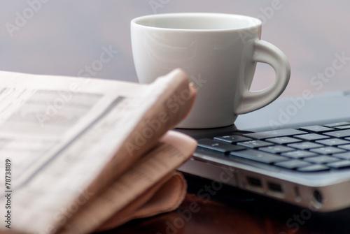 Newspaper and coffee - 78738189