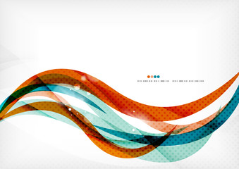 Blue orange line concept